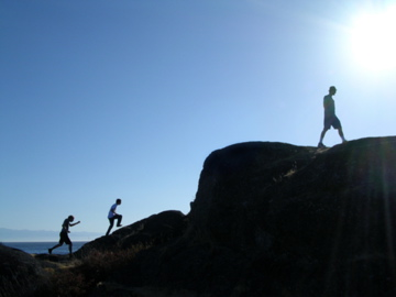mountain trekkers